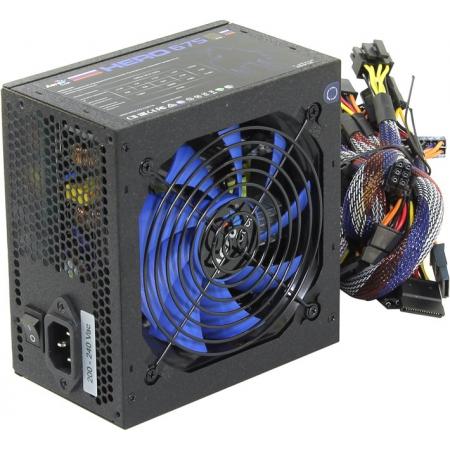 Блок питания ATX 675W Aerocool Hero 675 80+ bronze 120mm 24+4+4pin/6xSATA APFC blue LED RTL