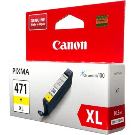 картридж canon cli-471xly желтый для canon pixma mg5740/mg6840/mg7740 (0349c001)