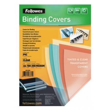 обложки для переплёта fellowes a4 прозрачный (100шт) crc-5376102 (fs-53761)(fs-53761)