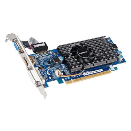 видеоадаптер pci-e gigabyte geforce 210 1024mb gv-n210d3-1gi (rtl) gddr3 64bit d-sub/dvi-i/hdmi