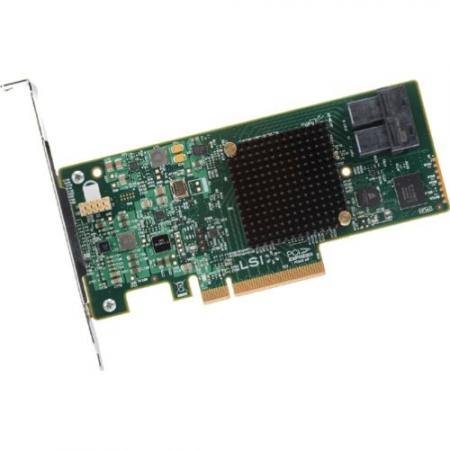 контроллер lsi 9341-8i sgl 12gb/s raid 0/1/10/5/50 8i-ports (lsi00407)(lsi00407)