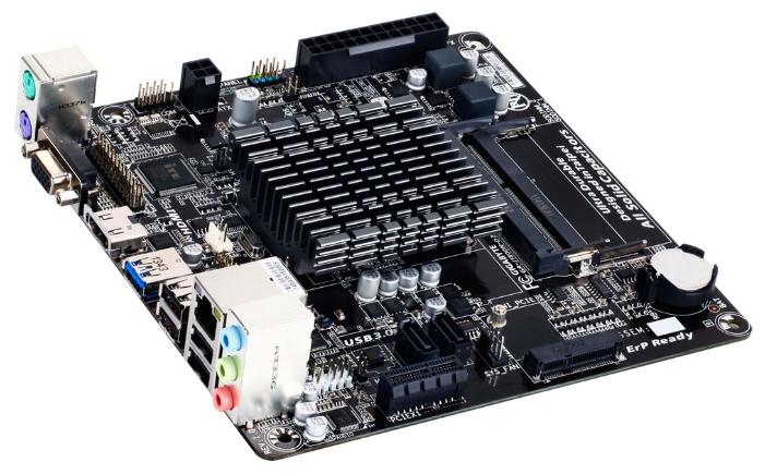 материнская плата gigabyte ga-j1800n-d2h (rtl) cel-j1800 2xddr3 sodimm pci-e x1/mini-pci-e 2xsata iii 2xps/2/d-sub/hdmi/4xusb 2.0/1xusb 3.0/glan/3 audio jacks mini-itx