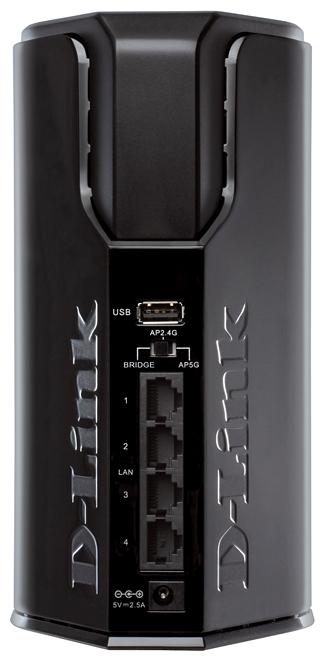 точка доступа d-link dap-1525 802.11a/n/b/g 300mbps, 4x10/100/1000 lan, 1xusb 2.0 (сервер-печати, подключение внешнего носителя), точка доступа/мост