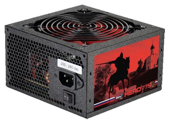 блок питания atx 750w aerocool hero 775 80+ bronze 120mm 24+4+4pin/6xsata apfc red led rtl