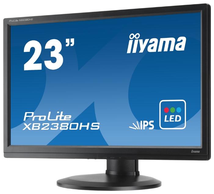"монитор-жк 23"" iiyama xb2380hs-b1 led wide 1920*1080 ips 5ms dvi hdmi vga has pivot m/m black"