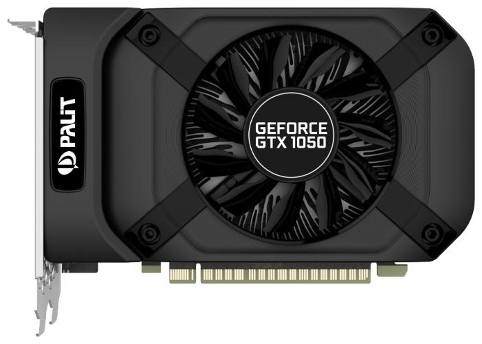 видеоадаптер pci-e palit geforce gtx1050 2048mb geforce gtx1050 stormx 2g (rtl) gddr5 128bit dvi-i/hdmi/dp