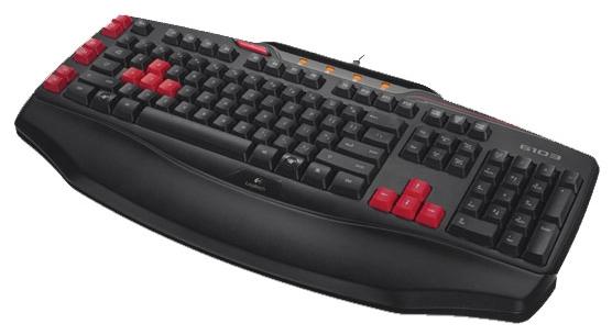 клавиатура logitech gaming g103 black usb (920-004478/920-005059)
