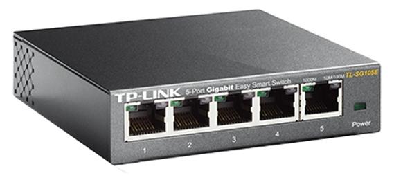 коммутатор tp-link tl-sg105e 5x10/100/1000, управляемый easysmart