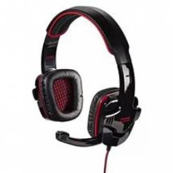 наушники hama fire starter (с микрофоном) черные/красные