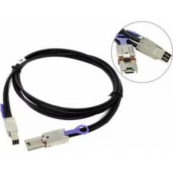 кабель adaptec sff-8644->sff-8088 ack-e-hdmsas-e-msas-2m (2280300-r) прямой коннектор, внеш.