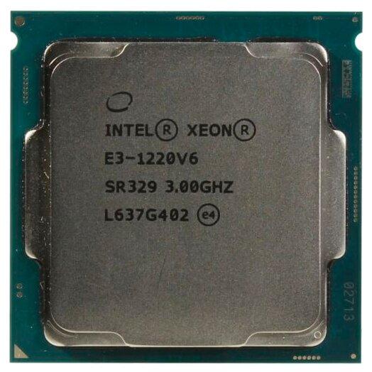 Процессор Intel Xeon E3-1220V6 Kaby Lake (2017) (3000MHz, LGA1151, L3 8192Kb)