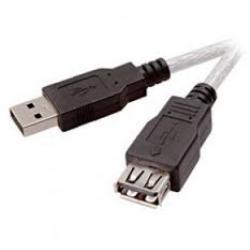 кабель usb 2.0 am/af 1.8 м (пакет) удлинитель, серый (gembird cc-usb2-amaf-6)