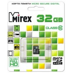 память sd card 32gb mirex micro sdhc class 10