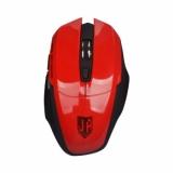 Мышь Jet.A Comfort OM-U54G беспроводная  красная (1200/1600/2000dpi) 5 кнопок USB