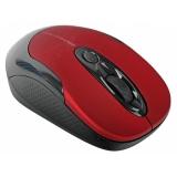 Мышь Jet.A Noiseless OM-U30G беспроводная c бесшумными клавишами красная (800/1600dpi)
