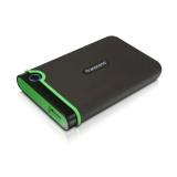 """Жесткий диск внешний 2.5"""" 500Gb Transcend (5400/USB) TS500GSJ25M3 черный/зеленый противоударный"""