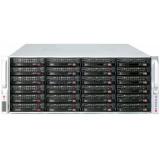Корпус 4U, storage, up to 45x3.5'' hot-swap SAS2/SATA (24front+21rear), single SAS2 expander with SFF8087 connector, 437x178x699mm, redundant 1400W (CSE-847E16-RJBOD1)