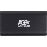 Корпус внешний для HDD/SSD AgeStar 3UBMS1 mSATA USB 3.0 пластик/алюминий черный(3UBMS1)