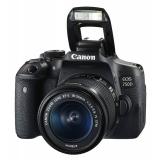 "Зеркальный Фотоаппарат Canon EOS 750D черный 24.2Mpix EF-S 18-55mm f/3.5-5.6 IS STM 3"" 1080p Full HD SDXC Li-ion (с объективом)(0592C005)"