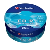 Диск CD-R Verbatim 700Mb 52x Cake Box (25шт) (43726)(43726)