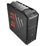 Корпус ATX Aerocool Xpredator X1 Black Edition w/o PSU 2x120mm 2xUSB3.0 audio bott PSU Black