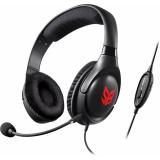 Наушники с микрофоном Creative Sound Blaster Blaze черный/красный 2.5м мониторы оголовье (70GH032000000)