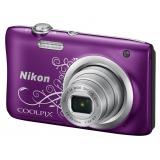 """Фотоаппарат Nikon CoolPix A100 фиолетовый/рисунок 20.1Mpix Zoom5x 2.7"""" 720p 25Mb SDXC CCD 1x2.3 IS el 10minF/EN-EL19(VNA974E1)"""