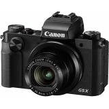 "Фотоаппарат Canon PowerShot G5 X черный 20.2Mpix Zoom4.2x 3"" 1080p SDXC/SD/SDHC CMOS IS opt 5minF rotLCD TouLCD VF 4.4fr/s RAW 60fr/s HDMI/WiFi/NB-13L(0510C002)"