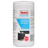 Чистящие салфетки BURO для экранов мониторов/плазменных/ЖК телевизоров/ноутбуков туба 100шт влажных (BU-All_screen)