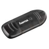Кардридер памяти USB2.0 Hama H-114731 черный(00114731)