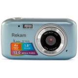"Фотоаппарат Rekam iLook S755i серый металлик 12Mpix 1.8"" SD/MMC CMOS/Li-Ion(1108005122)"