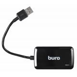 Разветвитель USB 3.0 Buro BU-HUB4-U3.0-S 4порт. черный(BU-HUB4-U3.0-S)