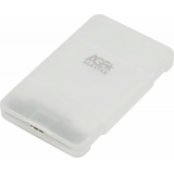 "Корпус внешний для HDD/SSD AgeStar 3UBCP3 SATA пластик белый 2.5""(3UBCP3)"