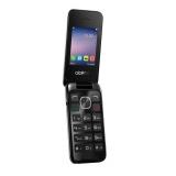 """Мобильный телефон Alcatel OneTouch 2051D серебристый раскладной 2Sim 2.4"""" 240x320 2Mpix BT GSM900/1800 GSM1900 FM microSD max32Gb(2051D-3AALRU1)"""