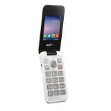 """Мобильный телефон Alcatel OneTouch 2051D белый раскладной 2Sim 2.4"""" 240x320 2Mpix BT GSM900/1800 GSM1900 FM microSD max32Gb(2051D-3BALRU1)"""