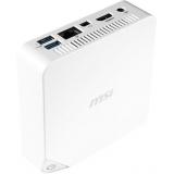 Неттоп MSI Cubi 237XRU slim Cel 3215U (1.7)/2Gb/SSD128Gb/HDG/noOS/GbitEth/WiFi/BT/65W/белый(9S6-B09612-237)
