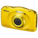 "Фотоаппарат Nikon CoolPix W100 желтый 13.2Mpix Zoom3x 2.7"" 1080p 22Mb SDXC/SD/SDHC CMOS 1x3.1 5minF HDMI/KPr/DPr/WPr/FPr/WiFi/EN-EL19(VQA013K001)"