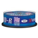 Диск DVD-R Verbatim 4.7Gb 16x Cake Box (25шт) (43522)(43522)