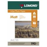 Бумага Lomond A4 190г/м2 25л  матовая двустороняя фото (0102036)