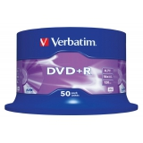 Диск DVD+R Verbatim 4.7Gb 16x Cake Box (50шт) (43550)(43550)
