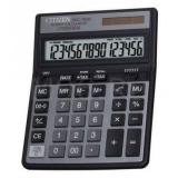 Калькулятор настольный Citizen SDC-760N 16 разрядов черный двойное питание две памяти налог