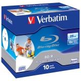 Диск BD-R Verbatim 25Gb 6x Jewel case (10шт) Printable Scratch proof (43713)(43713)