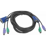 Кабель для переключателя D-Link DKVM-CB5 4.5 м, PS/2+PS/2+VGA