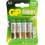 Элемент питания AA GP 15A Super Alkaline LR6/316 (уп4шт)