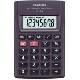 Калькулятор карманный Casio HL-4A 8 разрядов серый питание от батареи расчет % большой дисплей