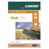 Бумага Lomond A4 100г/м2 100л матовая двусторонняя фото (0102002)