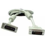 Кабель DVI-D (25M/25M) 10 м (пакет) dual link, двойное экранированние, ферритовые кольца, белый (Gembird CC-DVI2-10M)