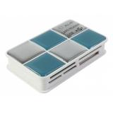 Кардридер памяти USB2.0 PC Pet CR-217CBL голубой(CR-217CBL)