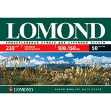 Бумага Lomond 10х15 230г/м2 500л матовая односторонняя фото (0102084)