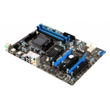 Материнская плата MSI 970A-G43 (RTL) S-AM3+ 970/SB950 4xDDR3 PCI-E x16/PCI-E x16 (x4 mode)/2xPCI-E x1/2xPCI 6xSATA III/RAID 0,1,5,10 PS/2/6xUSB 2.0/2xUSB 3.0/GLAN/6 audio jacks ATX